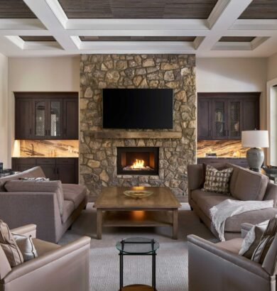 Photo of ventless fireplace